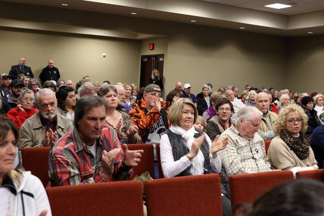 BOC rezoning crowd applaud