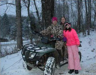 1BIG Local families know how to have fun in the snow. From left Elizabeth Land  Skylar Land  11  and Hope Bennett  13
