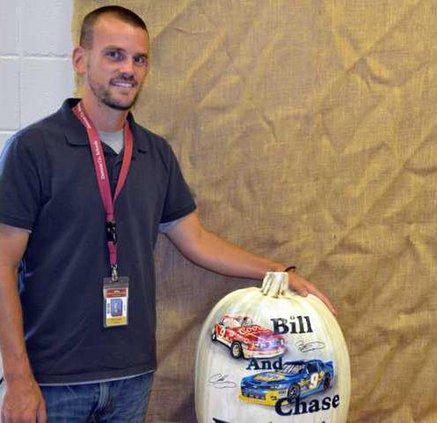 6. NASCAR pumpkin pic