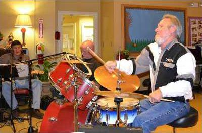2BBD Windred Reeves and 11 other muscians perform Friday nights at the Dawson County Senior Center