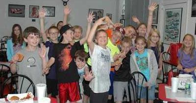 HOYH POOL ROOM 4th graders