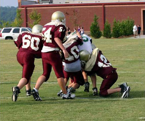 MS Fball Scrimmage pic 2
