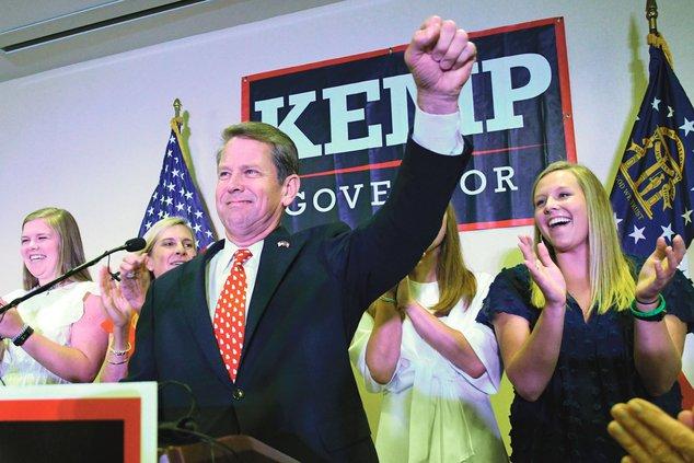 Kemp wins