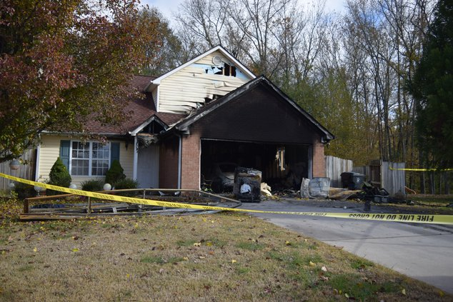 Cats rescued house fire