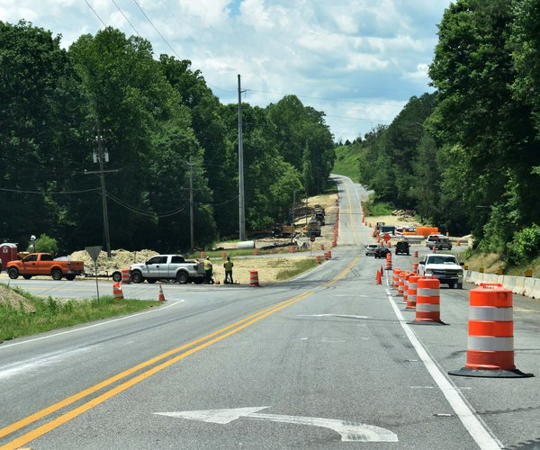 Dawson Forest Road work