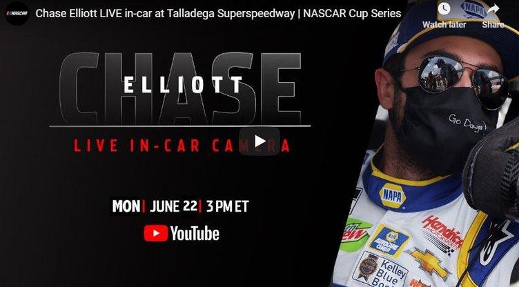 Chase Elliott live stream