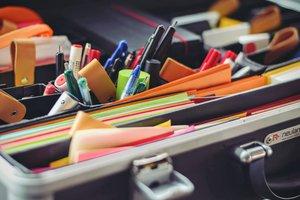 school supplies stock