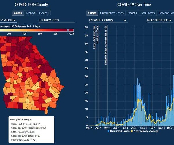COVID GA Map 1-20