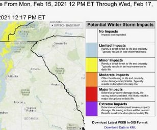 winter weather alert Feb 15