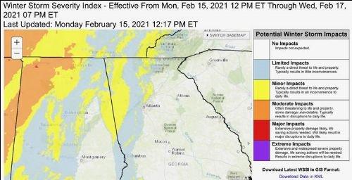 winter weather alert Feb 15