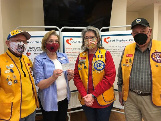 Lions club donation 03-09-21