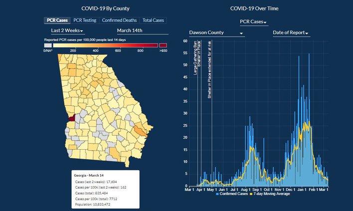 COVID GA Map 03-15