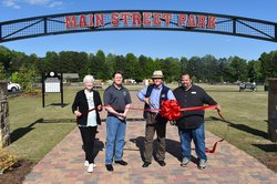 Main street park ribbon cutting