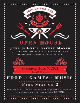 Fire Department Open House flyer