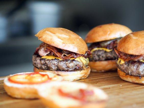 Hamburgers stock