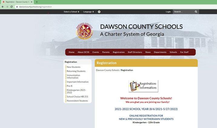 DCS Registration 2021-22