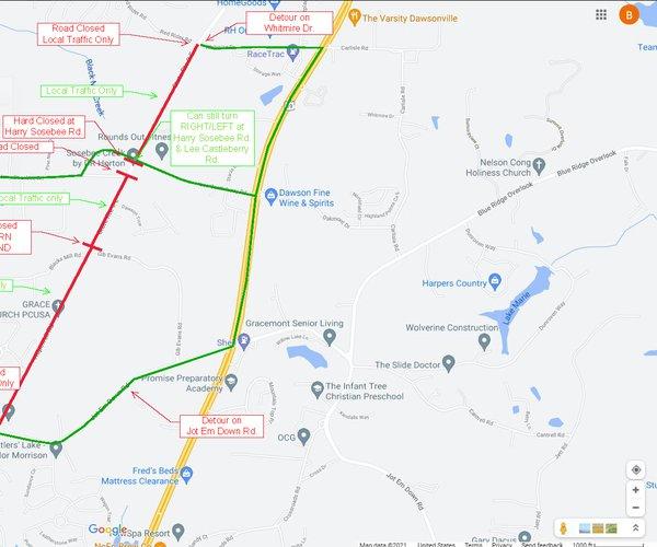 Lumpkin Campground  Road Closure 2021