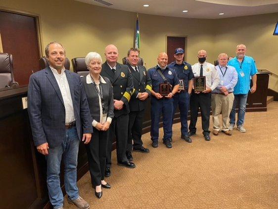 Fire Station 2 lifesaving award