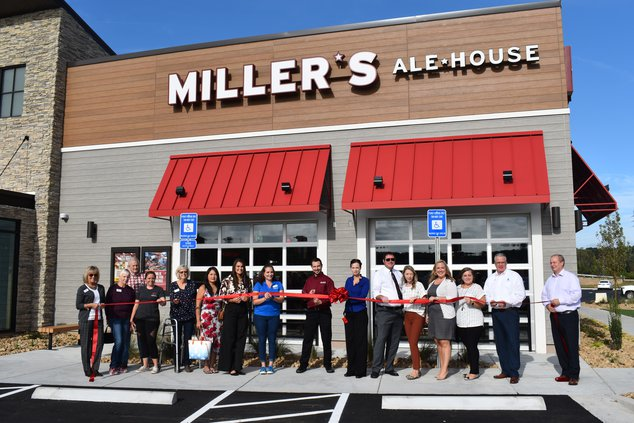 Miller Ale House ribbon cutting
