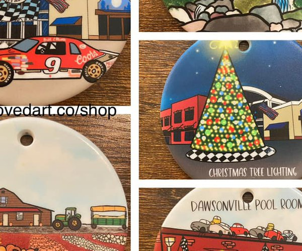 Hometown ornaments